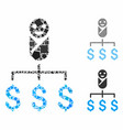 kid expenses mosaic icon rugged elements vector image vector image