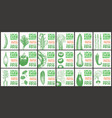 labels with various vegetables set templates vector image