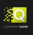 letter q logo symbol in the colorful square vector image vector image