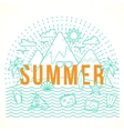 line style flat summer vector image vector image