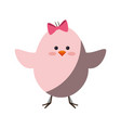 little chicken cartoon vector image vector image