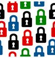 Lock icon seamless pattern vector image