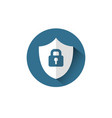 lock on shield icon protection and security vector image vector image