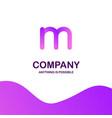 m company logo design with purple theme vector image vector image