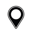 map pin flat design vector image