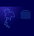 map thailand from the contours network blue vector image