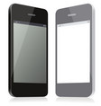 pair of models smartphones black and gray of vector image vector image