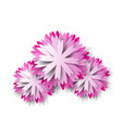 paper floral background pink flower vector image vector image