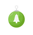 picture of a green christmas bulb and a coniferous vector image vector image