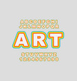 rainbow stylized vintage font and vector image vector image