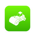roller truck icon green vector image vector image