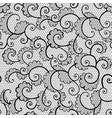 Seamless black lace ornamental pattern with curls