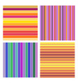 set abstract striped background colorful line vector image vector image
