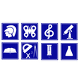 set of educational symbols vector image