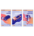 set promo vertical posters for car service vector image vector image