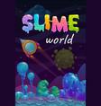 slime world background alien fantasy slimy vector image vector image