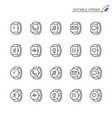 smartwatch line icons editable stroke vector image