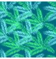 Teal blue and green palm seamless pattern Hawaiian vector image vector image