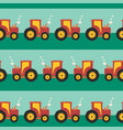 tractor seamless pattern repeating vector image