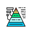 triangular diagram with explanations flat color vector image vector image