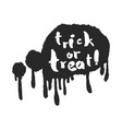 trick or treat in a speech bubble vector image