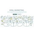 Viral Marketing Banner in Linear Style vector image