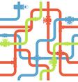 water pipeline vector image