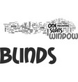window blinds different kind of blinds text word vector image vector image