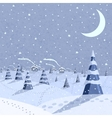 Winter landscape scene vector image
