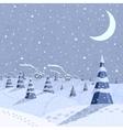 Winter landscape scene vector image vector image