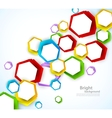 Colorful background with hexagons vector image