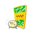 Concept around the clock taxi vector image