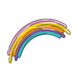 isolated cute rainbow vector image