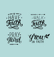 4 hand lettering about faith vector image vector image