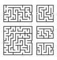 a set of square and rectangular labyrinths with vector image vector image