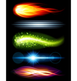 Abstract light beams vector image vector image