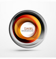 abstract swirl banner circle abstract vector image