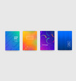 abstract trendy gradient flowing geometric vector image vector image
