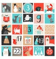 advent calendar december countdown calendar vector image vector image
