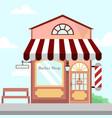 barbershop store front building background vector image