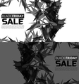 Black friday sale banner set Abstract triangle vector image