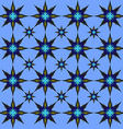 Blue star pattern vector image vector image