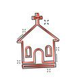 cartoon church sanctuary icon in comic style vector image vector image