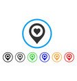 casino map marker icon vector image vector image