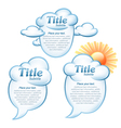 clouds with message vector image vector image