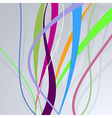 Colorful bright lines over blue wall vector image vector image