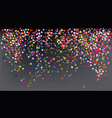 confetti new years celebration - banner vector image vector image