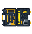 construction tools box vector image vector image