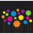 creative colorful gear patterndesign vector image vector image