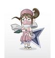 cute style girl ninja vector image